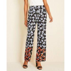 Ann Taylor Pants 8P Wide Leg Floral High Rise